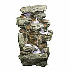 6 Fall Rustic Slate Formation Water Feature by Aqua Creations