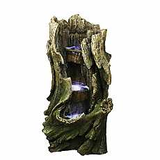 3 Level Tree Trunk Water Feature by Aqua Creations
