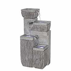 4 Bowl Textured Granite Water Feature by Aqua Creations