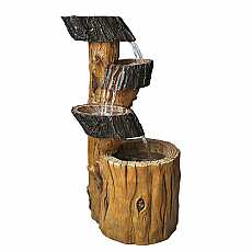 3 Fall Tree Trunk Water Feature by Aqua Creations