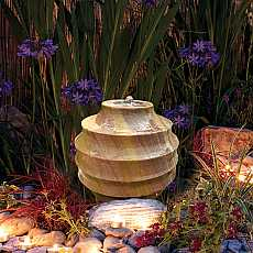 Scalloped Rainbow Sandstone Sphere 40cm Garden Water Feature