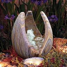 Babbling Lily Rainbow Sandstone Garden Water Feature