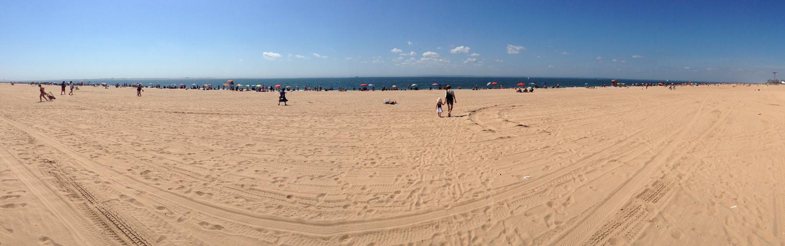 Panorama of Brighton Beach, Brooklyn, NY, 2013