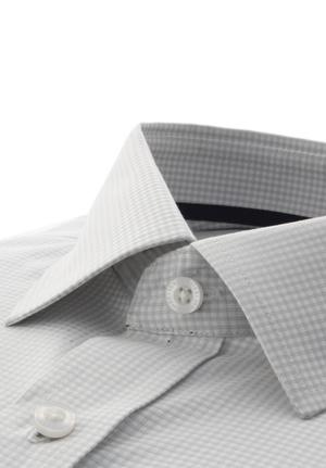 White Luxury Dobby Windowpane Checks
