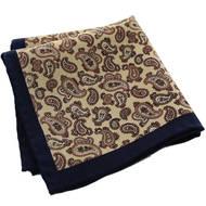 Brown Paisley Wool