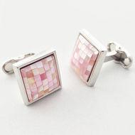 Pink Pearl Cufflinks