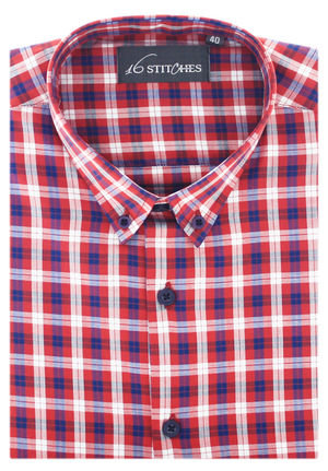 Red Herringbone Plaid