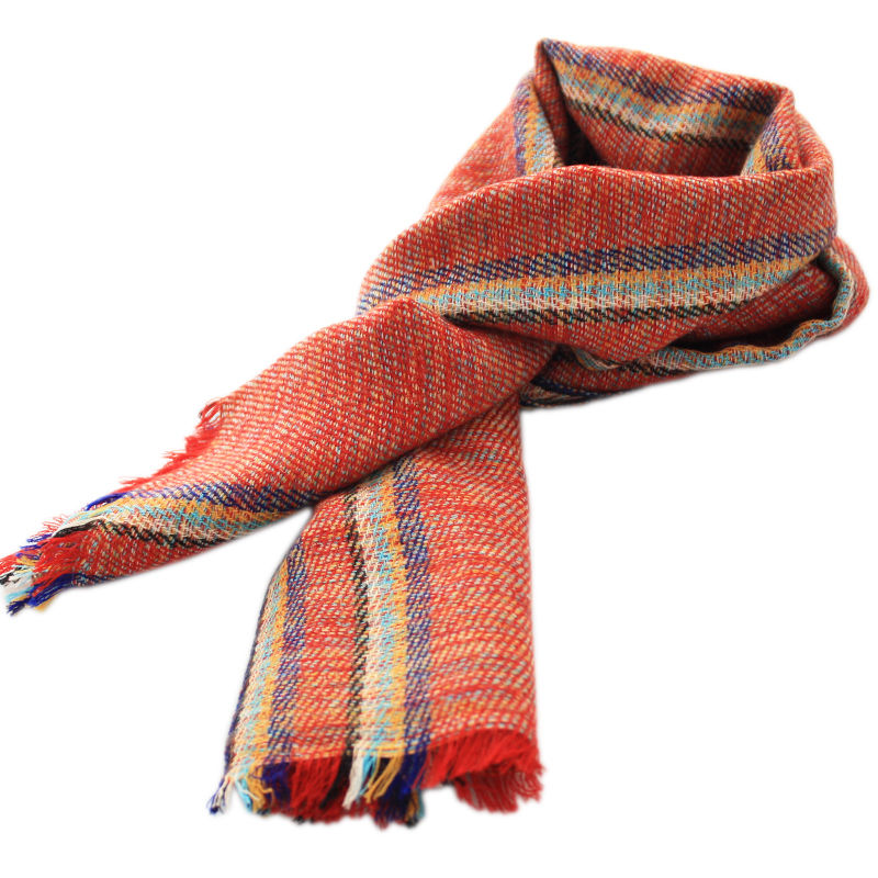 Red Checks Cashmere Scarf