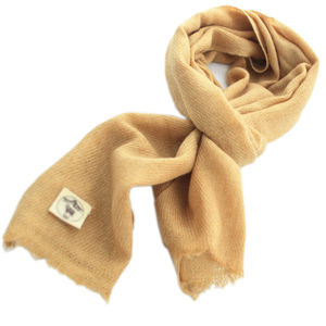 Brown Twill Cashmere Scarf