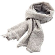 Grey Paisley Cashmere Scarf