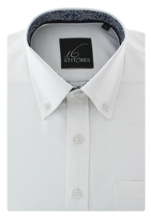 White Oxford Solid