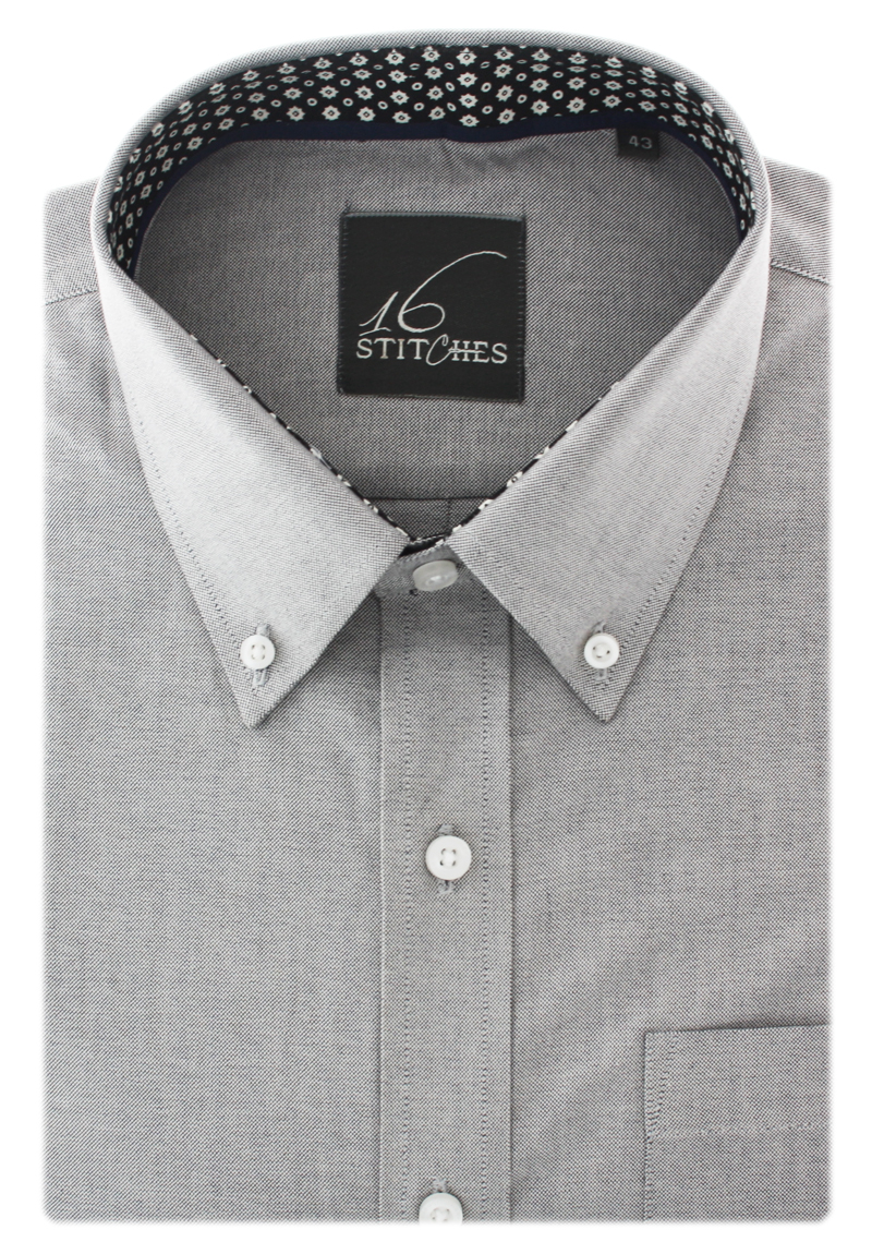 Buy Shirts Online Grey Oxford Solid Shirt Custom Shirts 16