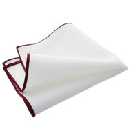 White with Maroon Lining
