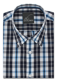 Blue & White Super Casual Checks