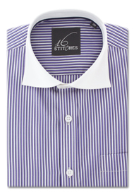 Purple Stripes Banker Shirt