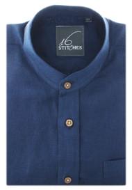 Navy Blue Linen