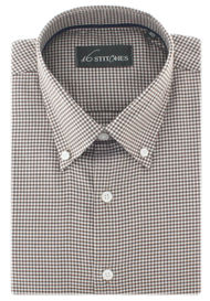 Brown Gingham Checks Shirt