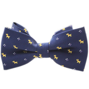 Navy Barking Dog Bowtie