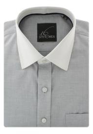 Grey Fil-a-fil Banker Shirt