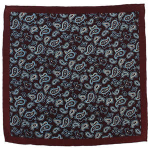 Blue Paisley Wool