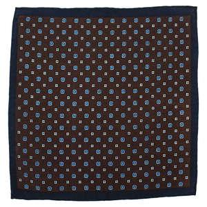 Floral Brown Wool
