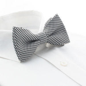 Mobster Hounds-tooth Bowtie