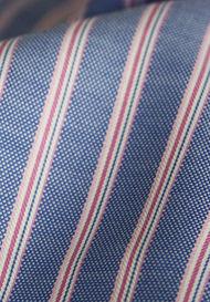 Stripes in Oxford Dobby Weave