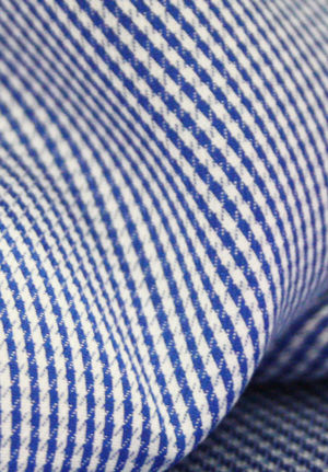 Blue & White Houndstooth Checks