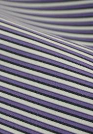 Purple Stripes Banker Shirt