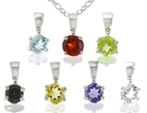 7-Gemstone Pendant Set