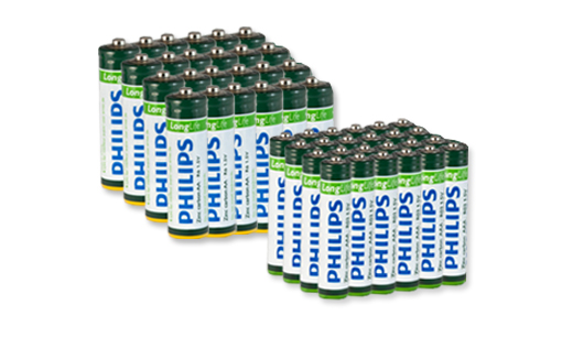 24 Pack of AA or AAA Batteries