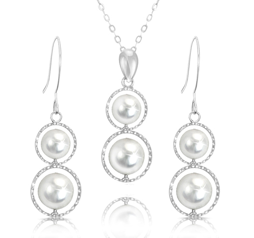 Pearl Pendant or Earrings