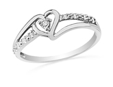 Heart Ring w/ Diamond Accents