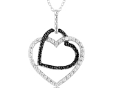 Diamond Accent Double Heart Pendant