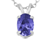 Oval Tanzanite Pendant w/Chain