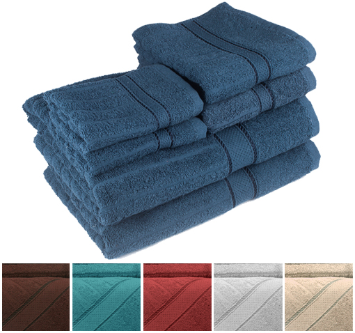 6-Pack Cotton Towel Set
