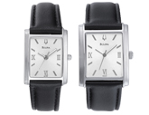 Men's or Ladies Leather Strap Watch
