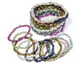10-Set Cultured Pearl Stretch Bracelets