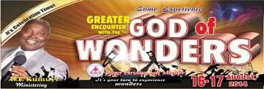 Greater Encounter with the God of Wonders