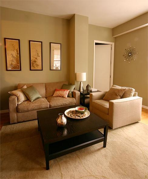 Sage green and brown living room for Sage living room ideas