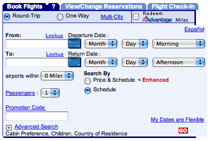 Travel Reservation