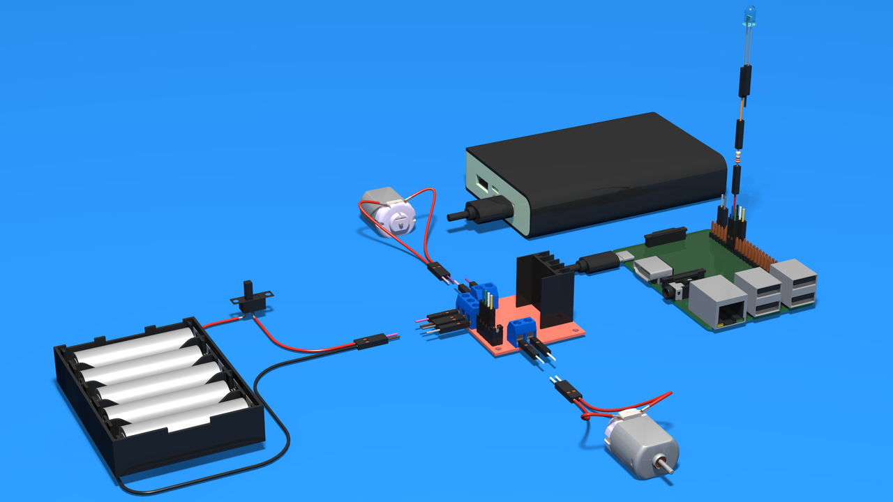Image for Raspberry Pi Electronics 3D Scheme