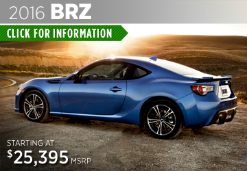 Click to View The New 2016 Subaru BRZ Model in Thornton, CO