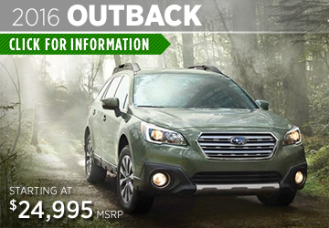 Click For 2016 Subaru Outback Model Information in Thornton, CO