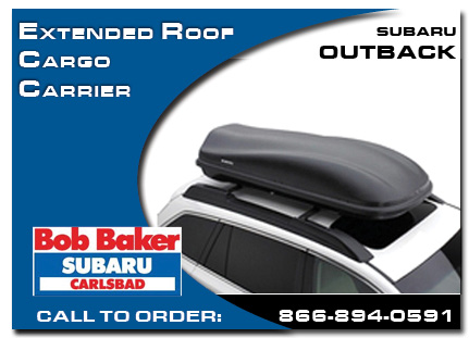 Carlsbad, subaru, roof cargo carrier, extended, outback, accessories