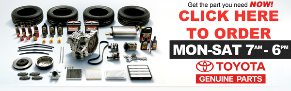 Order Genuine Toyota Parts near San Diego, California