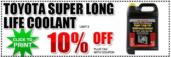 Frank Toyota Super Long-Life Coolant Parts Special, Toyota Gear, Acccessories, filters, serving San Diego County & Kearny Mesa California