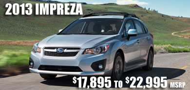 2013 Subaru Impreza at Carter Subaru Ballard, Seattle, Belleview, Renton, Kirkland, Redmond, Puyallup, Washington