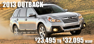2013 Subaru Outback at Subaru Pacific, Hermosa Beach, Los Angeles, Torrance, Long Beach, Santa Monica, California