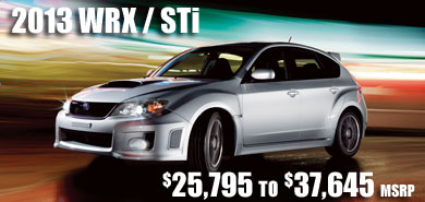 2013 Subaru Impreza WRX model details & information serving Seattle, Bellevue, Renton, Kirkland, Redmond and Puyallup, Washington area